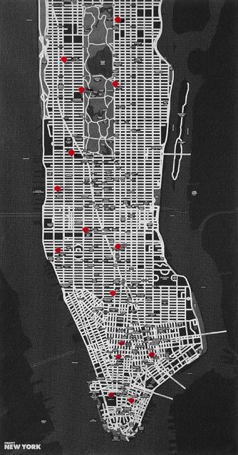 PIN CITY NEW YORK [BLACK] WALL MAP DIARY -PALOMAR