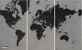 PIN WORLD XL [BLACK] -WALL MAP DIARY PALOMAR