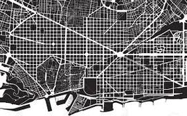 PIN CITY BARCELONA [BLACK] WALL MAP DIARY -PALOMAR