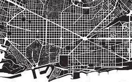 PIN CITY BARCELONA [BLACK] WALL MAP DIARY -PALOMAR