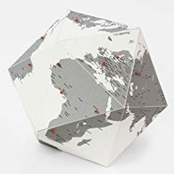 HERE BY CITIES [SMALL GRIS][ESFERA CARTRO -23 CM DIAM] THE PERSONAL GLOBE -PALOMAR