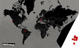PIN WORLD BY COUNTRIES MINI [BLACK] -WALL MAP DIARY -PALOMAR