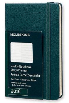 2016 WEEKLY NOTEBOOOK DIARY/PLANNER - MOLESKINE