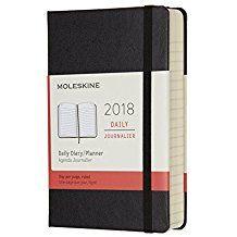 2018 DAILY DIARY NEGRA [9X14] -MOLESKINE