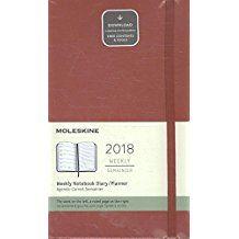 2018 WEEKLY NOTEBOOK DIARY ROJO [13X21] -MOLESKINE