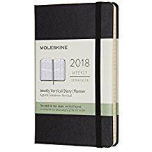 2018 WEEKLY VERTICAL NEGRA [9X14] DIARY/PLANNER -MOLESKINE