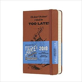 2018 ALICE'S IN WONDERLAND DAILY DIARY [9X14] -MOLESKINE LIMITED EDITION