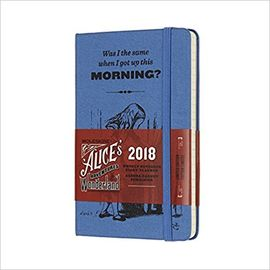 2018 ALICE'S IN WONDERLAND WEEKLY NOTEBOOK DIARY [9X14] -MOLESKINE LIMITED EDITION
