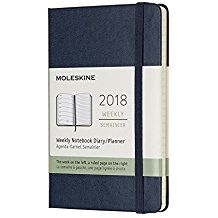 2018 WEEKLY NOTEBOOK DIARY AZUL [9X14] -MOLESKINE