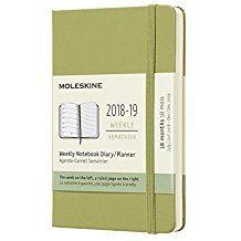 2018-2019 18M WEEKLY VERDE [9X14] NOTEBOOK DIARY -MOLESKINE