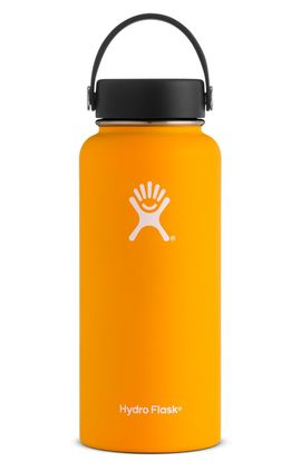 TERMO 32 OZ MANGO [946 ML AMARILLO] WIDE MOUTH WITH FLEX CAP -HYDRO FLASK