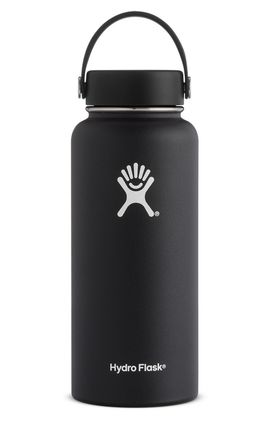 TERMO 32 OZ BLACK [946 ML NEGRO] WIDE MOUTH WITH FLEX CAP -HYDRO FLASK