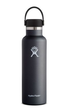 TERMO 21 OZ BLACK [621 ML NEGRO] STANDARD MOUTH W/STANDARD FLEX CAP -HYDRO FLASK