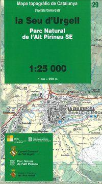 29 LA SEU D'URGELL 1:25.000 PARC NATURAL DE L'ALT PIRINEU SE -ICC