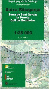 58 BAIXA RIBAGOR�A 1:25.000 UNITATS GEOGRAFIQUES -ICC
