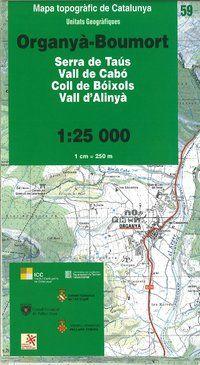 59 ORGANYA-BOUMORT 1:25.000 -UNITATS GEOGRAFIQUES -ICC