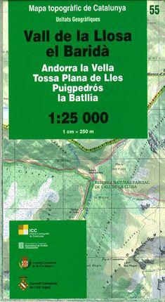 55 VALL DE LA LLOSA, EL BARIDA 1:25.000 UNITATS GEOGRAFIQUES -ICC