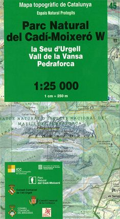 45 PN DEL CADI-MOIXERO W 1:25.000 -ICC