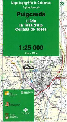 23 PUIGCERDA 1:25.000 -CAPITALS COMARCALS -ICC