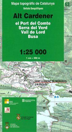 63 ALT CARDENER 1:25.000 PORT DEL COMTE -UNITATS GEOGRAFIQUES -ICC