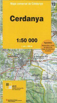 15 CERDANYA 1:50.000 -MAPA COMARCAL CATALUNYA ICC