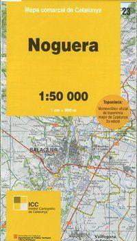 23 NOGUERA 1:50.000 -MAPA COMARCAL CATALUNYA -ICGC