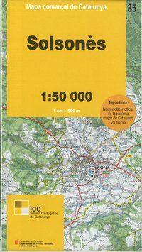 35 SOLSONES 1:50.000 -MAPA COMARCAL CATALUNYA ICC
