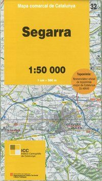32 SEGARRA 1:50.000 -MAPA COMARCAL CATALUNYA ICC