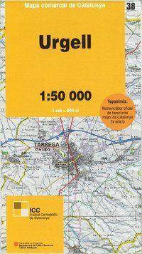 38 URGELL 1:50.000 -MAPA COMARCAL CATALUNYA -ICGC