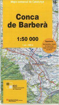 16 CONCA DE BARBERÀ 1:50.000 -MAPA COMARCAL DE CATALUNYA -ICGC
