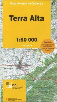 37 TERRA ALTA 1:50.000 -MAPA COMARCAL DE CATALUNYA -ICGC