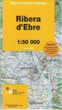 30 RIBERA D'EBRE 1:50.000 -MAPA COMARCAL CATALUNYA -ICGC