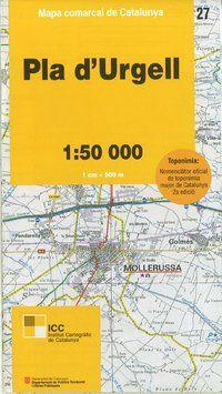27 PLA D'URGELL 1:50.000 -MAPA COMARCAL CATALUNYA ICC