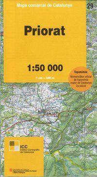 29 PRIORAT 1:50.000 -MAPA COMARCAL CATALUNYA ICC