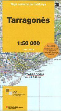 36 TARRAGONES 1:50.000 -MAPA COMARCAL CATALUNYA ICC