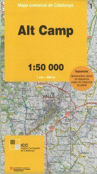 01 ALT CAMP 1:50.000 -MAPA COMARCAL CATALUNYA -ICGC