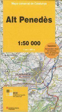 03 ALT PENEDES 1:50.000 -MAPA COMARCAL CATALUNYA ICC
