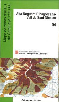 04 ALTA NOGUERA RIBAGORÇANA - VALL DE ST NICOLAU 1:25.000 -ICGC