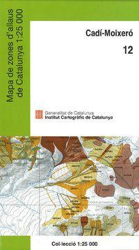 12 CADI-MOIXERO 1:25.000 -MAPA DE ZONES D'ALLAUS -ICC