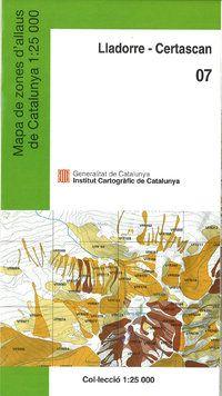 07 LLADORRE-CERTASCAN 1:25.000 -MAPA DE ZONES D'ALLAUS -ICC