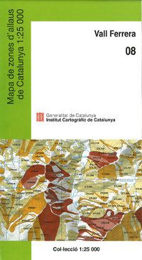 08 VALL FERRERA 1:25.000 -MAPA ZONA ALLAUS DE CATALUNYA