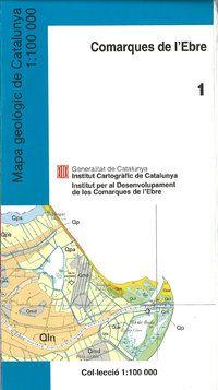 MAPA GEOLOGIC DE LES COMARQUES DE L'EBRE 1:100.000