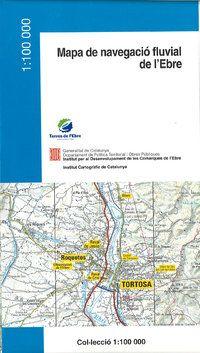 MAPA DE NAVEGACIO FLUVIAL DE L'EBRE 1:100.000 -ICC