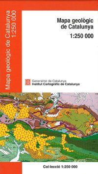 MAPA GEOLOGIC DE CATALUNYA [PLEGAT] 1:250.000- ICC
