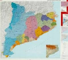 MAPA DE CONQUES HIDROGRAFIQUES DE CATALUNYA 1:250.000 -ICC