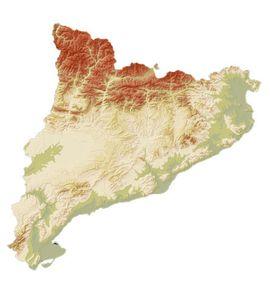 MAPA HIPSOMETRIC DE CATALUNYA 1:500.000 [MURAL] -ICC