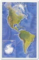 LAS AMERICAS, MAPA DE RELIEVE [MURAL] 1:15.000.000 -CNIG
