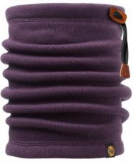 110953 THERMAL NECKWARMER/PURPLE PENNANT -BUFF