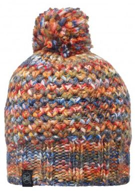 111015.204 KNITTED HAT BUFF/MARGO ORANGE- BUFF