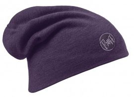 111170.622 HEAVY MERINO WOOL HAT/SOLID PLUM- BUFF
